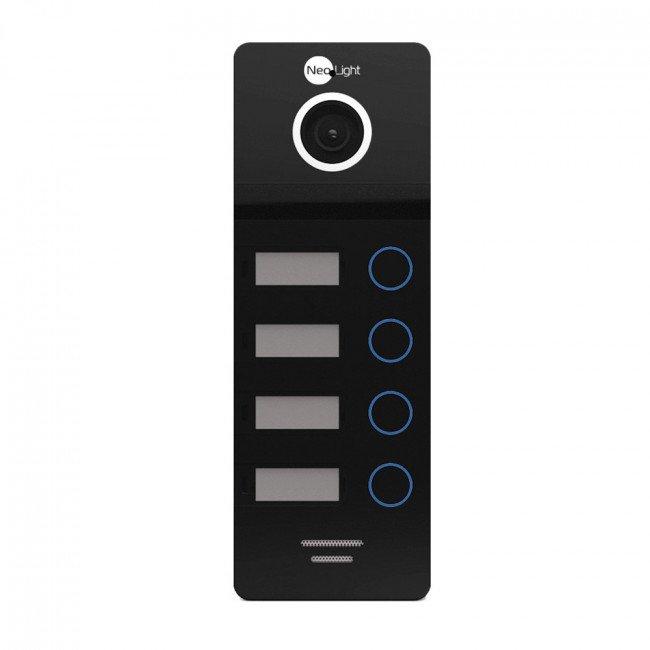 NeoLight Mega/4 FHD Black Панель вызова на 4 абонента