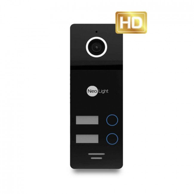 NeoLight Mega/2 HD Black Панель вызова 2 абонента