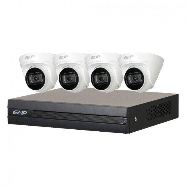 Dahua EZIP-KIT/NVR1B04HC-4P/E/4-T1B20 Комплект видеонаблюдения