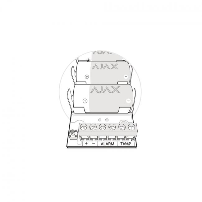 Ajax Transmitter Беспроводной модуль для интеграции сторонних датчиков
