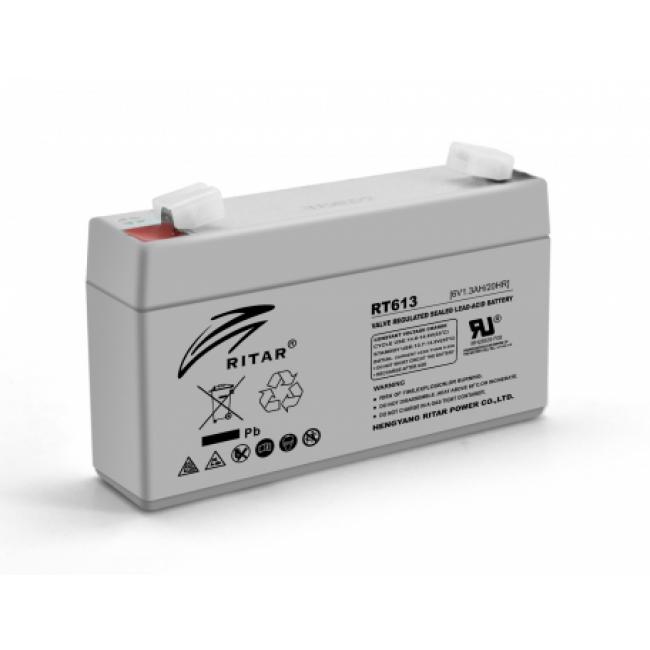 Ritar RT613 AGM 6В, 1.3А/ч Аккумуляторная батарея