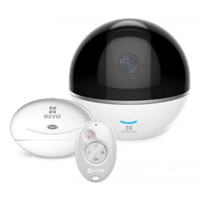 Ezviz CS-CV248 (C6T WITH RF) Комплект (2Мп WI-FI PT камера + Hub+брелок)