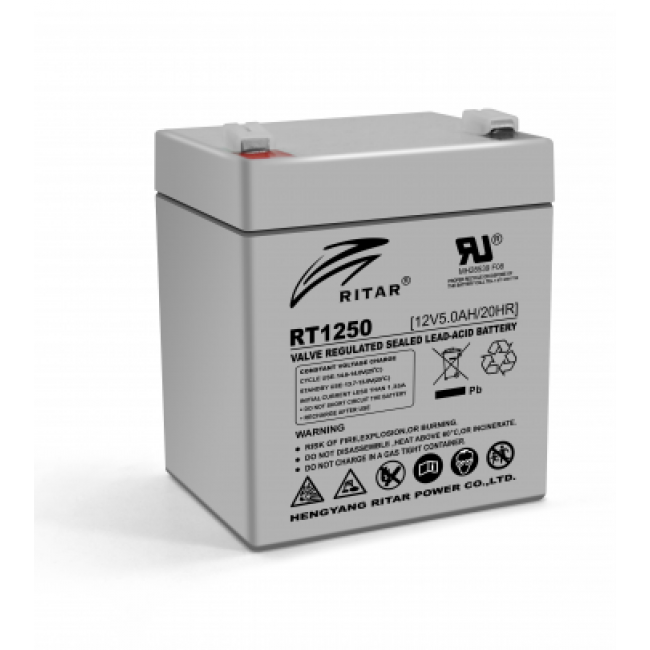 Ritar RT1250 AGM 12В, 5А/ч Батарея аккумуляторная