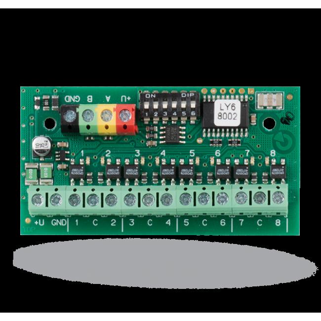 Jablotron JB-118N Модуль шины сигнального выхода программируемый – 8 выходов