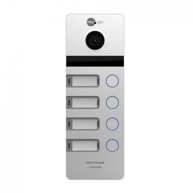 NeoLight Mega/4 FHD silver Панель вызова 4 абонента