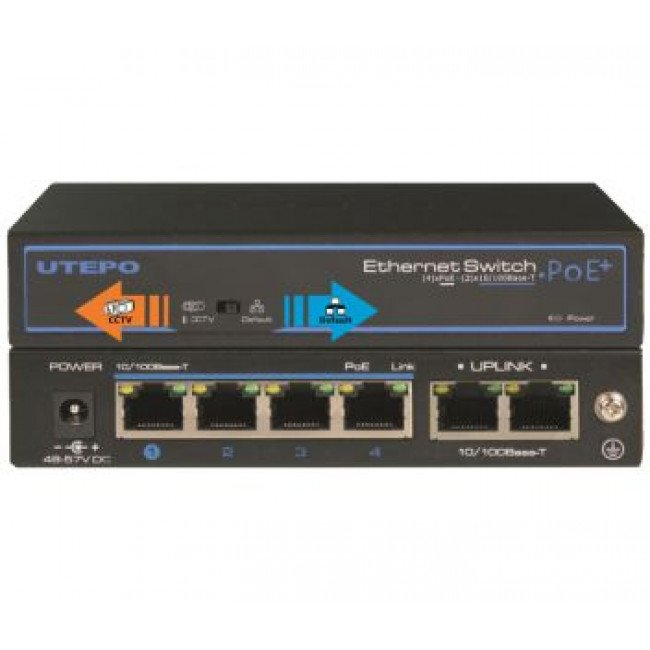 Utepo UTP3-SW04-TP60 4-портовый POE коммутатор