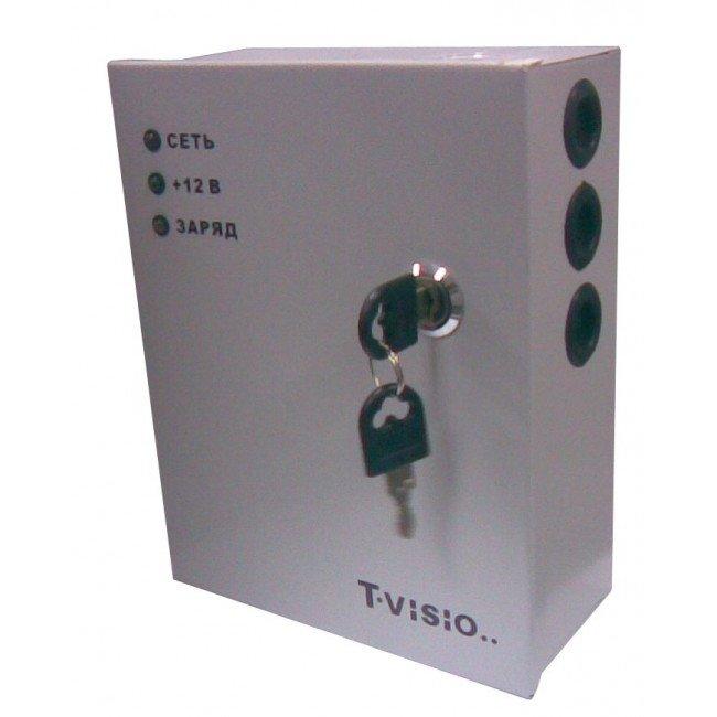 T-VISIO TT-3412 (Мет. бокс с замком) 12В/3А Бесперебойный блок питания