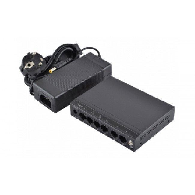 FoxGate S6006-AI (60W)  4-портовый POE коммутатор
