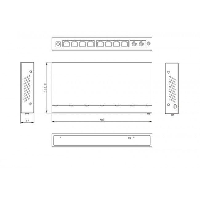 Utepo UTP3-SW08-FP120 8-портовый PoE коммутатор