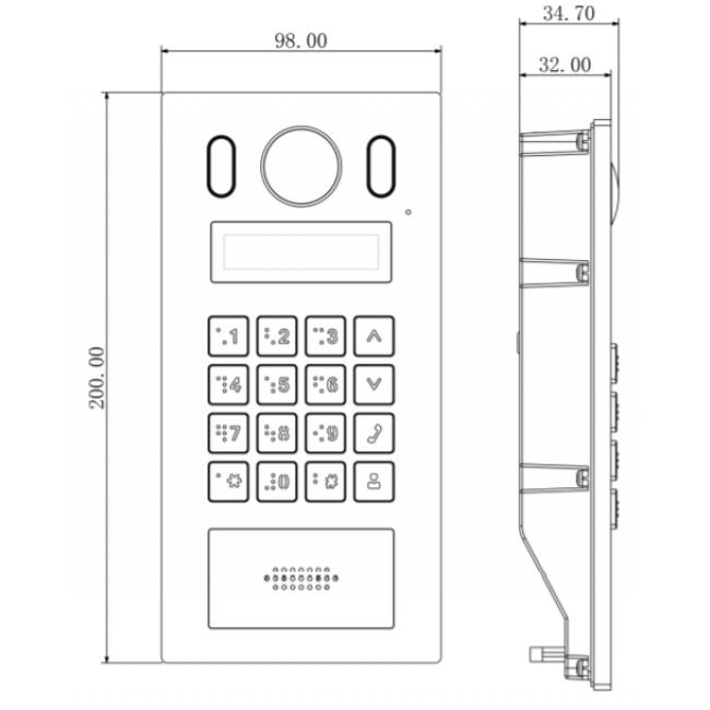 Dahua DHI-VTO6221E-P Вызывная IP видеопанель