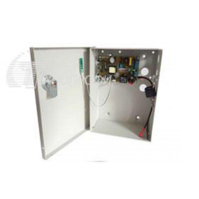 T-VISIO ББП-5012А 12В/5А (Мет. бокс с замком)  Бесперебойный блок питания