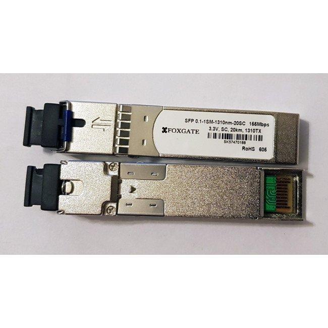 FoxGate SFP 0.1-1SM-1310nm-20SC модуль SFP